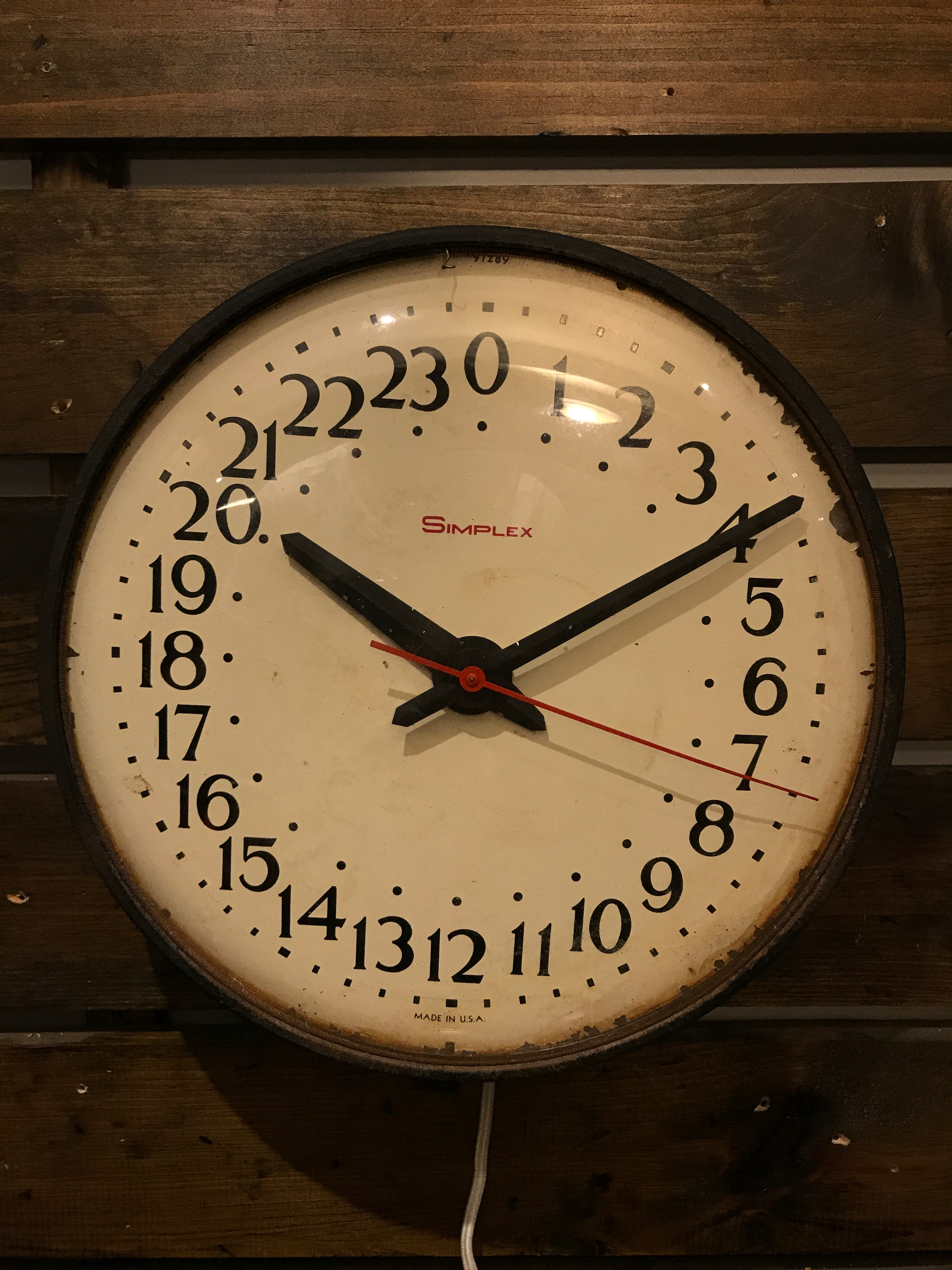 Military Time Clock >> 24 Hour Military Time Simplex Usa This Is A Standard Military